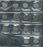 BELGIQUE 1987-1993 MORIN 820-833 FLEURS DE COIN  50 FRANCS/FRANK - 1951-1993: Baudouin I