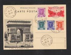 Carte Postale Paris Arc De Triomphe - Biglietto Postale