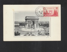 Carte Postale Paris Arc De Triomphe Haudroy 1938 - Francia
