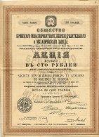 RUSSIE / RUSSIA / SOCIETE DES ACIERIES, FORGES ET ATELIERS DE MACHINES DE BRIANSK 1912 - Russie