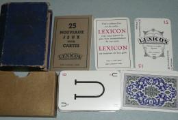 Rare Ancien Jeu De Cartes LEXICON En Boite Avec Règles De Jeux Miro Company 1937 - Jeux De Société