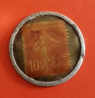 Timbre Monnaie 10 Centimes Huile Spidoléine Pour Auto Voir Les 2 Photos - Monetari / Di Necessità