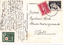 CROATIA-HRVATSKA  Dopisnica  NDH 1944 - Kroatien