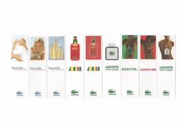 Cartes Parfumées Carte LOT DE 9 CARTES  LACOSTE - Cartas Perfumadas