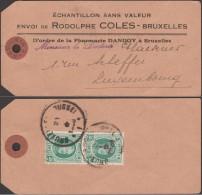 Belgique 1929 COB 254. Houyoux 35 C X 2, échantillon Pour Le Luxembourg. Peu Commun - 1922-1927 Houyoux