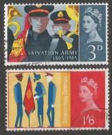 Great Britain. 1965 Salvation Army. Used  Complete Set. SG 665-666 - 1952-.... (Elizabeth II)
