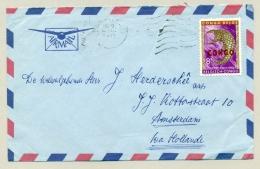 Republiek Congo - 1960 - CONGO Opdruk Op 8F Faunazegel Op LP-brief Naar Amsterdam - Republiek Congo (1960-64)