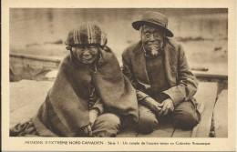 CANADA , MISSIONS D' EXTREME NORD CANADIEN , Un Couple De L' Ancien Temps En Colombie Britannique , CPA ANIMEE - Sin Clasificación