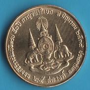 THAILANDE 25 SATANG  2539 (1996)  50th Anniversary Of Reign Of Rama IX  UNC   ELEPHANTS - Thaïlande