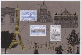 France BF N° F 5048 ** Bloc Doré - Paris Philex - Pont, Notre-Dame, Tour Eiffel, Etc... - Ongebruikt