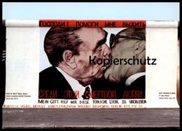 ÄLTERE POSTKARTE DMITRI VRUBEL MEIN GOTT HILF MIR DIESE TÖDLICHE LIEBE ZU ÜBERLEBEN BRUDERKUSS HONECKER BRESCHNEW Cpa AK - Berliner Mauer