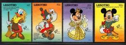 1992 Lesotho  Disney Granada Spain   Complete Set  Of  4 MNH - Lesotho (1966-...)