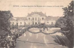 71-AUTUN- LA GARE ( ARRIVEE DU MINISTRE DE LA GUERRE LE 15 AOÛT 1905 - Autun