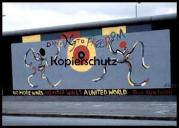 ÄLTERE POSTKARTE JOLLY KUNJAPPU DANCING TO FREEDOM BERLINER MAUER THE WALL LE MUR BERLIN Art AK Cpa Postcard - Berliner Mauer
