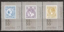 1976 Amphilex Strook En Paar NVPH 1098/1100a+1101/1102a Postfris/MNH/** - 1949-1980 (Juliana)