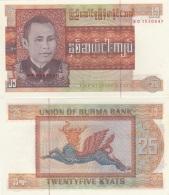 Burma - 25 Kyats 1972 Pick 59 UNC Ukr-OP - Myanmar