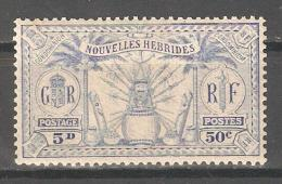 French New Hebrides 1925,50c (5p),Sc 50,F-VF MNH** (P-5) - French Legend