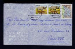"ANGOLA 1959 Cover Faune Animals 2x ""rinoceros"" Animaux Portugal Nova Lisboa From Women Catholic Mission Sp4188 - Angola"