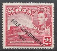 Malta. 1948-53 Self Government. 2d Red MH SG 238 - Malta