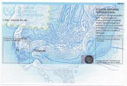 FINLAND  International Reply Coupon IRC CN 01 COUPON-RÉPONSE INTERNATIONAL UPU With HOLOGRAM - Finland