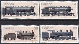 Canada 1985 Railway Locomotives III Set Of 4, Used (SG1185-8) - Usati