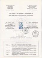 VENISSIEUX - CARTON D'INVITATION ET PROGRAMME INAUGURATION MUSEE DE LA RESISTANCE 24-11-1979 - Programs
