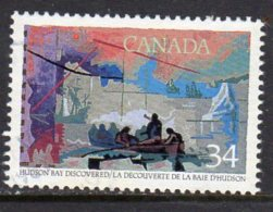 Canada 1986 Exploration I, Henry Hudson 34c Value, Used (SG1211) - 1952-.... Reign Of Elizabeth II