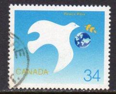 Canada 1986 International Peace Year, Used (SG1215) - 1952-.... Reign Of Elizabeth II