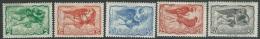 Greece    1942  Sc#C55-6, C58-60 Airmails MH*   2016 Scott  Value $3.50 - Unused Stamps
