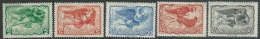 Greece    1942  Sc#C55-6, C58-60 Airmails MH*   2016 Scott  Value $3.50 - Airmail