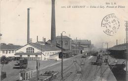 71-LE CREUSOT- USINE A GAZ , PRESSE ET PILONS - Le Creusot