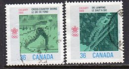 Canada 1987 Winter Olympic Games IV Set Of 2, Used (SG1258-9) - 1952-.... Reign Of Elizabeth II