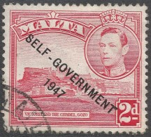 Malta. 1948-53 Self Government. 2d Red Used SG 238 - Malta