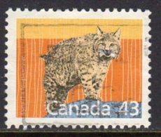 Canada 1988-93 43c Lynx Definitive, Used (SG1268) - 1952-.... Reign Of Elizabeth II