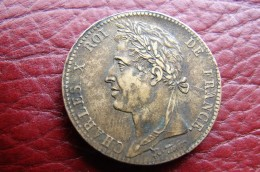 Charles X 10 Centimes 1827 H La Rochelle - Colonies