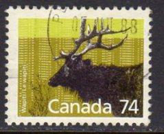 Canada 1988-93 74c Wapiti Definitive, Used (SG1274) - 1952-.... Reign Of Elizabeth II