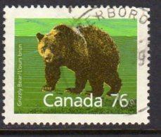 Canada 1988-93 76c Brown Bear Definitive, Used (SG1275) - 1952-.... Reign Of Elizabeth II