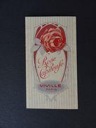 Ancienne Carte Parfumée VIVILLE ROSE CAPITEUSE / Perfume Carta Profumo Parfum Paris - Cartes Parfumées