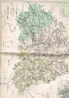 CARTE GEOGRAPHIQUE 1880 FRANCE DEPARTEMENT DE LA HAUTE LOIRE ET CHER PLAN DU PUY PAR MALTE BRUN - Geographical Maps
