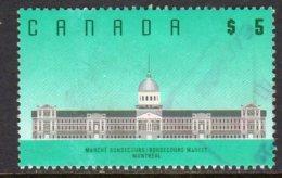 Canada 1988-93 $5 Bonsecours Market Definitive, Used (SG1279) - 1952-.... Reign Of Elizabeth II