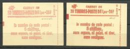 FRANCE: CARNET N°1973C1 X 2, Ouverts, 1 Ex Conf 6 Numéroté, 1 Ex Conf 8 Daté, TB - Markenheftchen