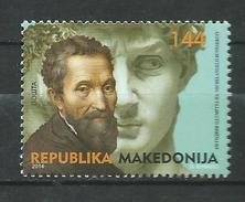Macedonia.2014 The 450th Anniversary Of The Death Of Michelangelo, 1475-1564.Italy,Art,Paintings,Statues,MNH - Macedonia