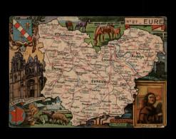 27 - EURE - CARTE DEPARTEMENT - France