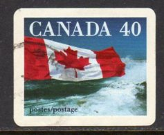 Canada 1989 Flag & Forest Self Adhesive 40c Value, Used (SG1328c) - 1952-.... Reign Of Elizabeth II