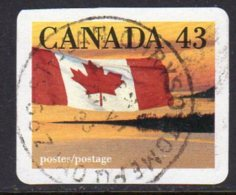 Canada 1989 Flag & Forest Self Adhesive 43c Value, Used (SG1328e) - 1952-.... Reign Of Elizabeth II