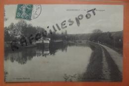 Cp Rare  Argentenay Le Canal De Bourgogne Peniche - Other Municipalities