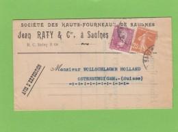 HAUTS-FOURNEAUX DE SAULNES:AVIS D'EXPEDITION,1937. - Francia