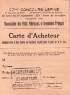 27 ème Concours Lépine - Carte D'acheteur - Meubles Arbey - Advertising