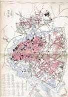 CARTE GEOGRAPHIQUE 1880 PLAN DE LILLE NORD PAR MALTE BRUN - Geographical Maps