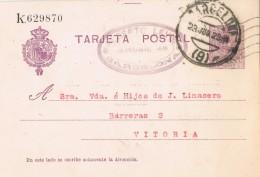 19414. Entero Postal Alfonso XIII Medallon, BARCELONA 1923, Edifil Um 50 º